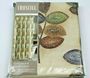 Croscill MOSAIC LEAVES Fabric Shower Curtain