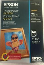 "100 Sheets 6"" x 4"" Epson GENUINE Glossy Photo Paper (200 gsm) ."