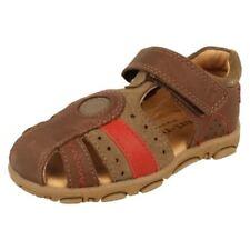 Chaussures marrons à attache auto-agrippant pour garçon de 2 à 16 ans Pointure 27