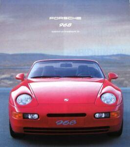 Prospekt Porsche 968 Coupe und 968 Cabrio - 7/91 Sonderprospekt