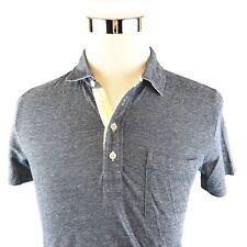 Billy Reid Pensacola Polo Shirt Jersey Stretch Blue Short Sleeve Mens Small NWT