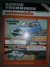 Citroen AXEL 11R 12TRS et Entreprise : revue technique RTA 459