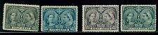 Canada 1897 Jubilee Mint No Gum 4 Stamps #50 1/2ct , #54 5ct, #56 8ct, #58 15ct