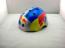 BMX SNOWBOARD SKATE SKI RED HELMET BULL MOUNTAIN BIKE TEAM HAND-PAINT M  SIZE