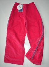 CLAYEUX French Designer GIRL trousers 5 years  VELVET pink NEW with TAGS RRP £77