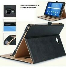 Genuine TAN Leather Smart Case Cover For Samsung Galaxy Tab A SM-T510,T580,T590