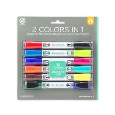U Brands Low Odor Magnetic Double Ended Dry Erase Markers With Erasers Bulle