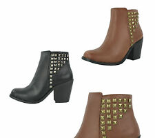 Unbranded Women's Textile Block Ankle Boots