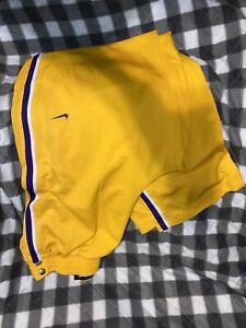 Los Angeles Lakers LA NBA Nike Team Gold Purple Sewn L Men's Warm Up Pants