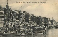 Benares,India,Temple on the Ganges,c.1909