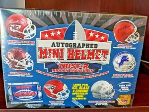 Tristar Hidden Treasures Signed Autographed Mini Helmet BRAND NEW FACTORY SEALED