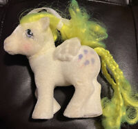 Vtg My Little Pony G1 So Soft Flocked Yellow Balloons Pegasus Fuzzy Yellow