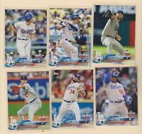 2018 TOPPS OPENING DAY  Bellinger  Kershaw  Darvish  Seager  Dodgers 12 CARD LOT