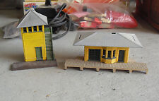 Vintage Ho Scale Plasticville Passenger Station and Switch Tower Look