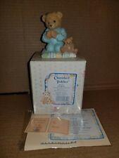 New Nib 1992 Cherished Teddies Patrick 911410 Boy Praying Figurine