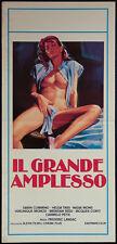 CINEMA-locandina IL GRANDE AMPLESSO cumming,trixi,mons,monod,LANSAC