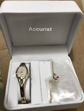 Accurist Gold Watch for Women with beautiful Gold Necklace brand new