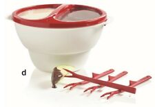 Tupperware Chic Dining Dipper w/Four (4) Forks Fondue Red White *Brand New*