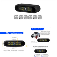 Car Wireless Solar TPMS Tire Pressure Monitoring System + 6 Sensors Universal