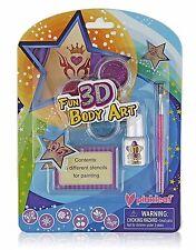 Pinkleaf 3D Glitter Tattoos & Body Art Kit For Boys&Girls,Indoor/Outdoor Fun Set