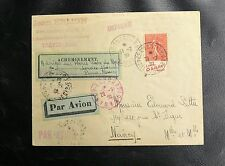 FRANCE PARIS NANCY PAR AVION  ESCALE DE TROYES 1930 - CERTIFICAT MIRO - FARMAN