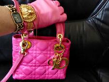 Lady DIOR Tasche Bag Mini Vintage Satin Pink Cannage