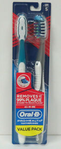 Oral-B Pro-Health All-in-One Toothbrushes Value Pack of 2 NEW SEALED