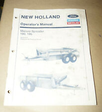 1993 Ford New Holland Manure Spreader 190 195 Operator's Manual P/N 42019023