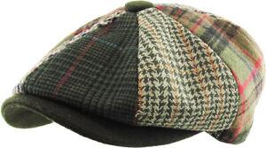 Mens Ivy Hat Golf Driving Ascot Winter Flat Cabbie Newsboy