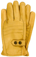 Riparo Men's Genuine Leather Winter Gloves with Fleece Lining - Camel