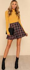 Plaid School Uniform Pleated Skirt Skort Girls Juniors Teens Brand New with Tags