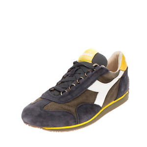 RRP €275 DIADORA HERITAGE Sneakers Size 42.5 UK 8.5 US 9 Contrast Leather Logo