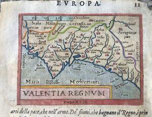 """""""VALENTIA REGNUM"""", Valencia, Spain, Giovanni Botero, Relationi, Brescia,1599."""