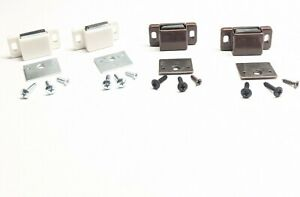 Magnetic Cabinet Door Latch Brown or White 5 lb pull force 2 or 4 pc w/screws