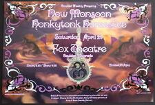 New Monsoon Honkytonk Homeslice Fox Theatre 2006 Original Rare Concert Poster