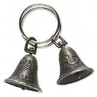 1828GF Antiqued Brass Bell Charm, Pendant, Drop, Rabbit , 25mm  - 6 Qty