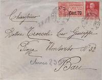 1925 Altanura Italy  Express mail cover to Bari  # E13
