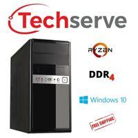 Techserve 3.7GHz AMD Ryzen 3 2200G, RX Vega PC Computer - 8GB RAM 160GB HDD