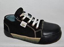 SOLEREBELS  4 YOUTH BOYS 23.5 CM BLACK SUEDE LACE ECO FRIENDLY HANDMADE SNEAKERS