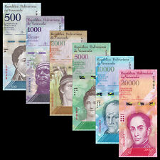 Venezuela Full Set 6 PCS, 500 1000 2000-20000 Bolivares, 2016(2017), P-NEW,UNC