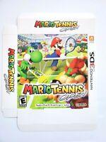 "Mario Tennis Open Promo Oversized Display Box Nintendo 3DS Gamestop 13.5"" x 17"""