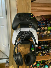 XBOX Series X PlayStation PS5 2 Controllers and Headset Wall Mount Holder PS4