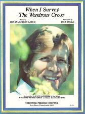 WHEN I SURVEY THE WONDROUS CROSS Music Sheet-1975-PAUL SANDBERG-Religious/Easter
