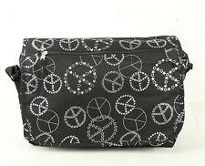 New Design Wheel Icon Messenger Bag FULL SIZE LARGE MESSENGER - Silver Color