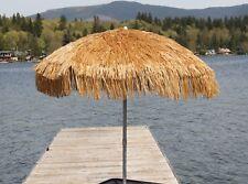 Whiskey Brown Palapa Tiki Hula Hawaiian 6 ft Patio or Beach Umbrella Tropical