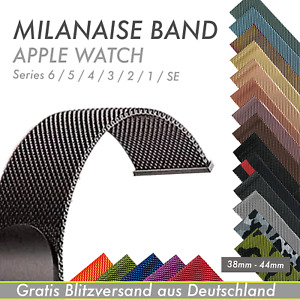 Milanaise Edelstahl Magnet Armband für Apple Watch SE 6 5 4 3 2 1 44mm-38mm Loop