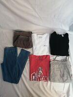 LOT de 6 vêtements fille 14ans pantalon jegging bleu neuf , short Sergent Major
