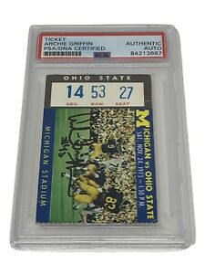 1973 Archie Griffin Michigan Vs Ohio State PSA DNA Certified Autograph Ticket