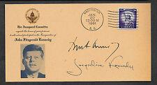 John F & Jacueline Kennedy Autograph Reprints Inaug. Envelope Reprint  *1345