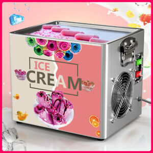 Mini Single Fried  Ice Cream Roll Maker Yogurt Pan Tray DIY Commercial Machine